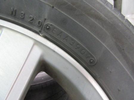 7年間使用したタイヤ